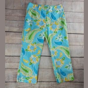 Like NEW Lilly Pulitzer cotton floral capris